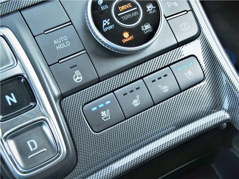 Hyundai Santa Fe (2021) центральная консоль