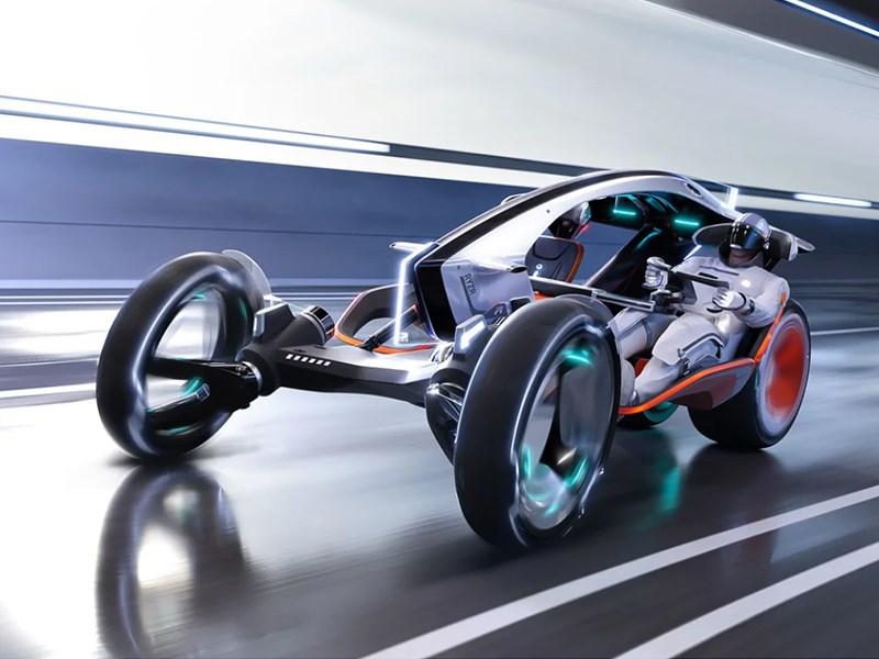 В концерне SAIC разработали гибрид мотоцикла и автомобиля