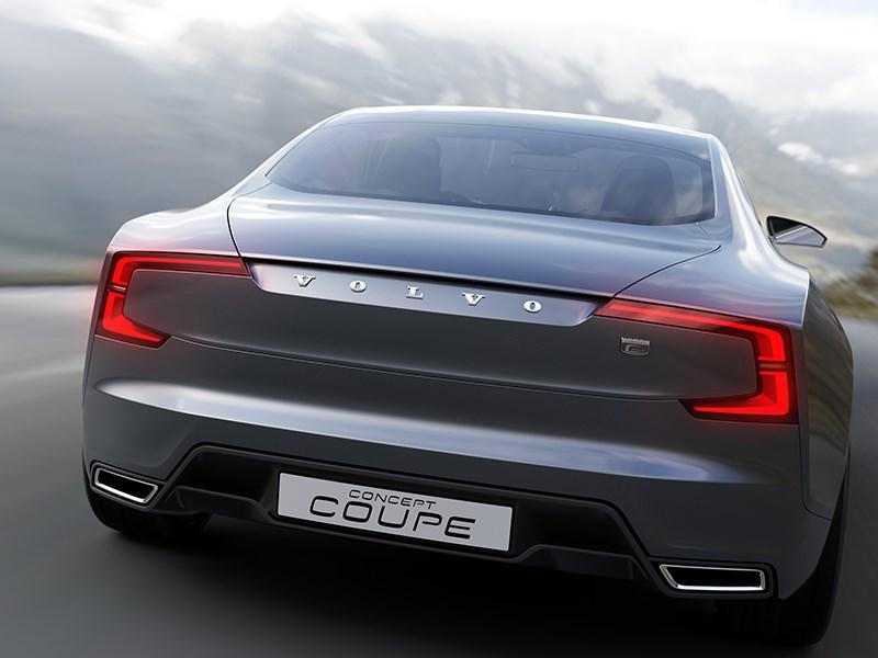 Volvo Coupe концепт 2013 вид сзади фото 3
