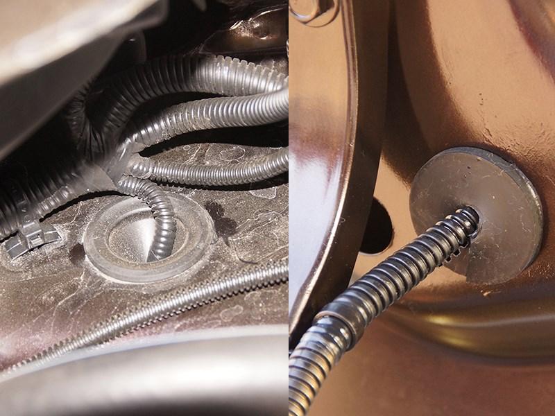 Datsun on-DO 2014 жгуты проводов закрыты гибкими оболочками