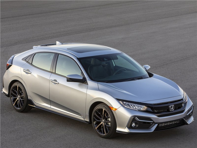 Honda Civic Hatchback 2020 вид спереди