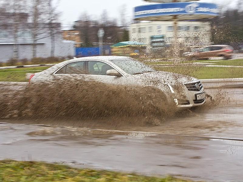 Cadillac ATS 2012 пелет по грязи