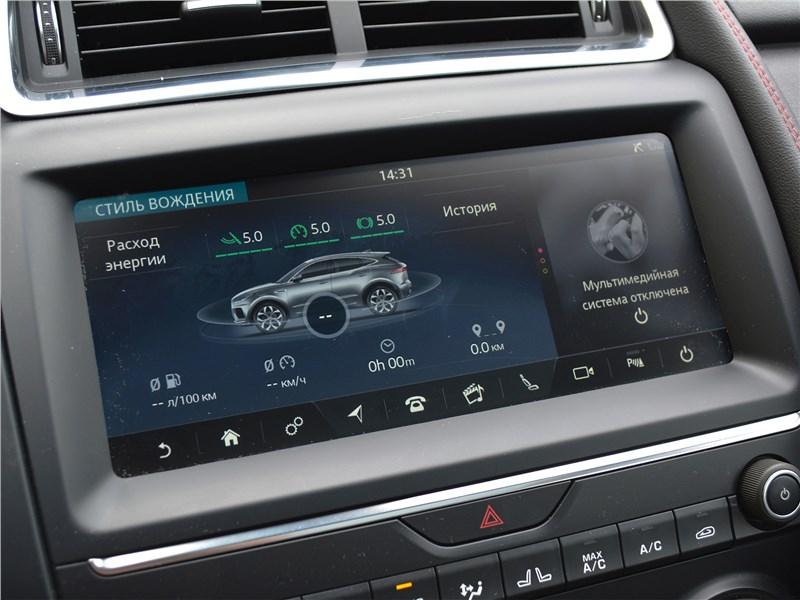 Jaguar E-Pace (2018) центральная консоль