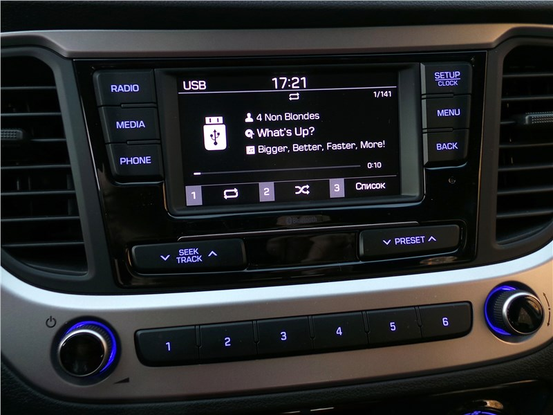 Hyundai Solaris 2017 мультимедиасистема