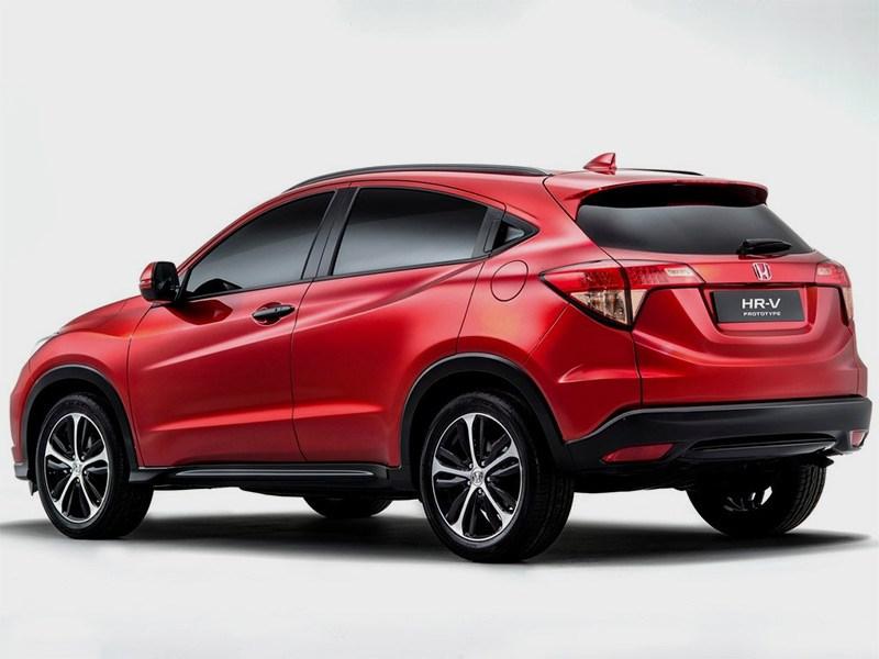 Honda HR-V 2014 вид сзади красная