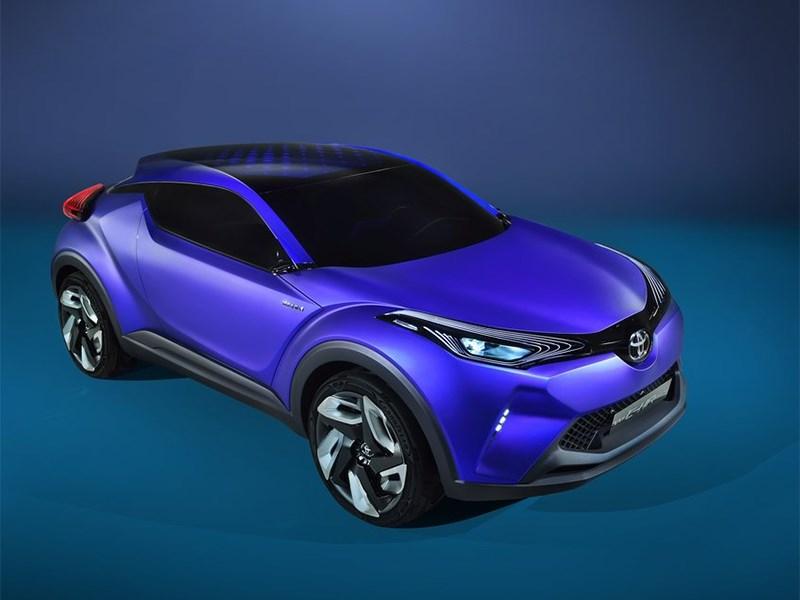 Toyota CH-R concept 2014 вид спереди сверху