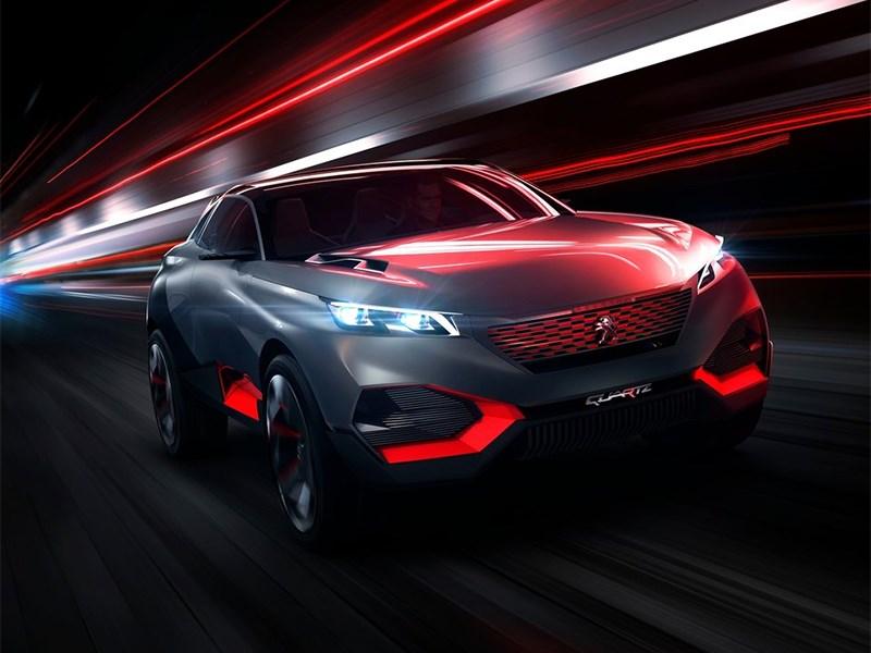 Peugeot Quartz Concept 2014 вид спереди