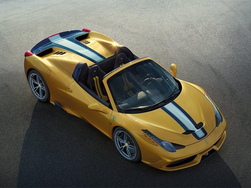 Ferrari 458 Speciale A 2014 вид сверху