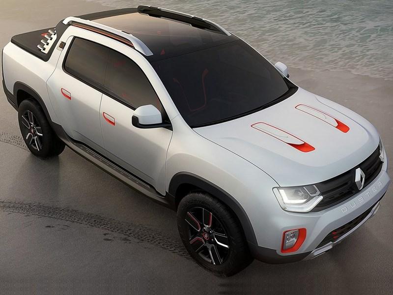 Renault Duster Oroch concept 2014 вид сверху спереди