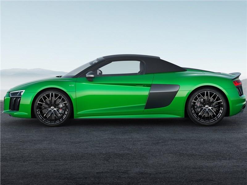 Audi R8 Spyder 2018 вид сбоку