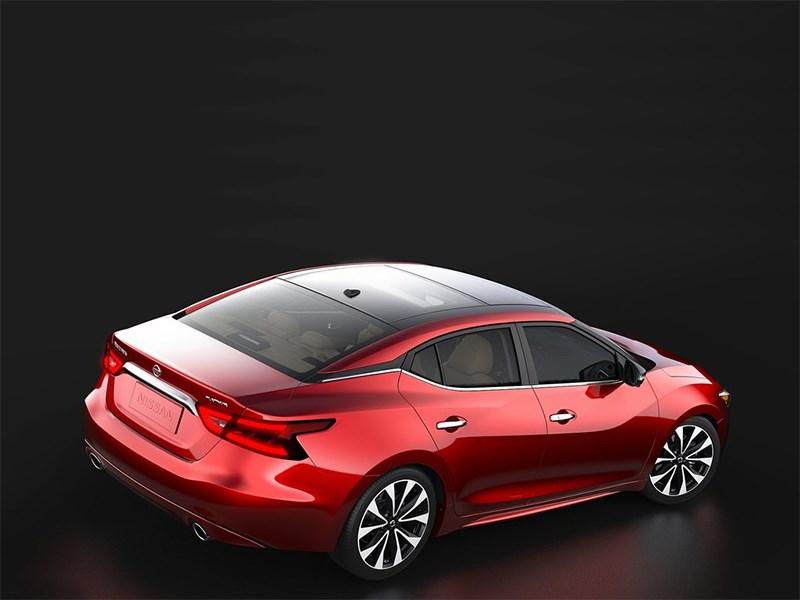 Nissan Maxima 2016 вид сзади сверху