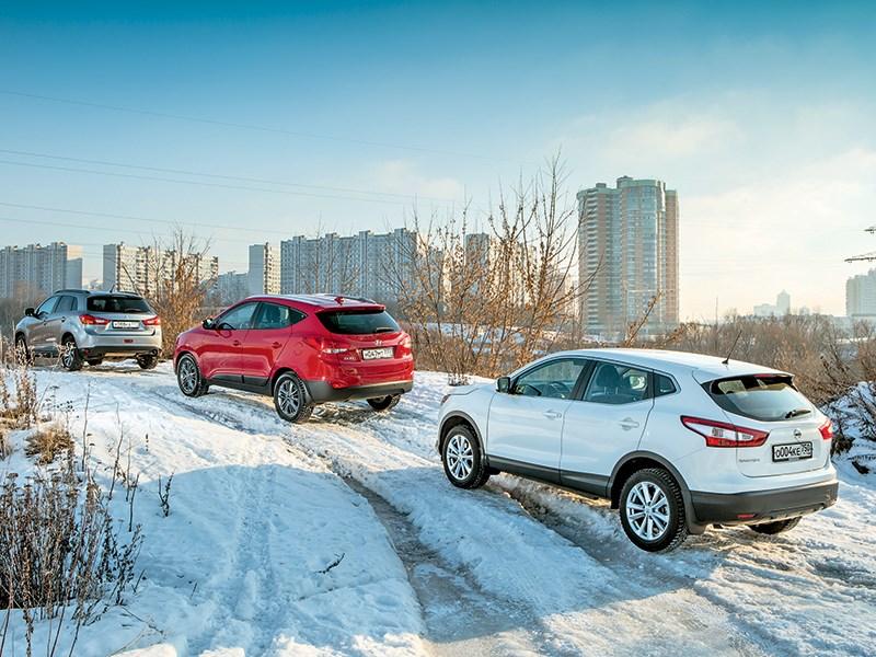 Сравнительный тест Nissan Qashqai, Hyundai ix35 и Mitsubishi ASX