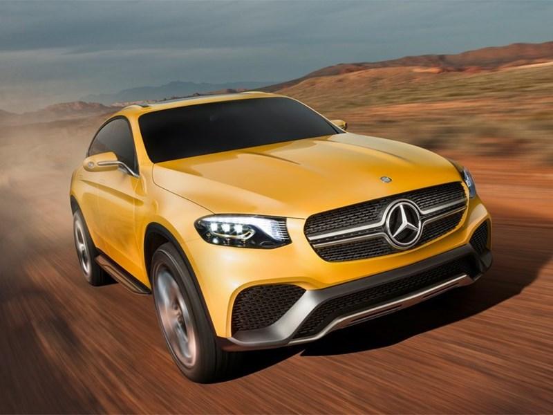 Mercedes-Benz GLC Coupe Concept 2015 вид спереди сбоку