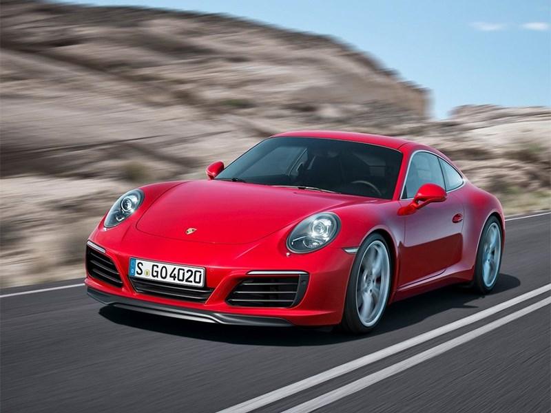 Porsche 911 Carrera coupe 2016 вид спереди