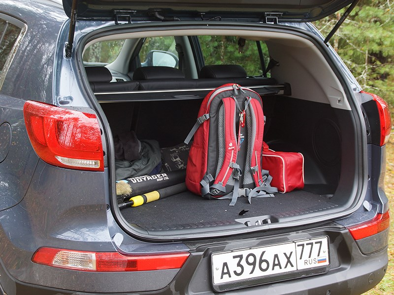 kia sportage как открыть багажник