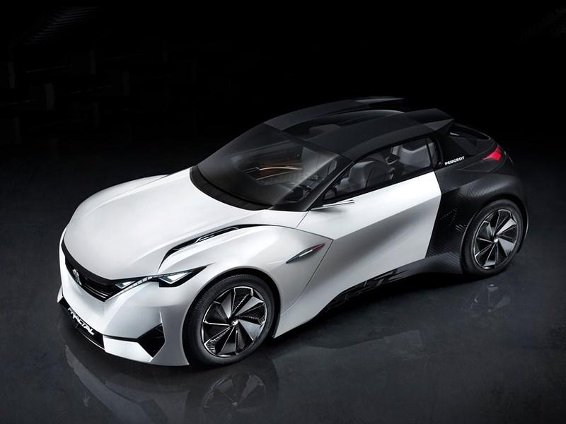 Peugeot Fractal Concept 2015 вид спереди сверху