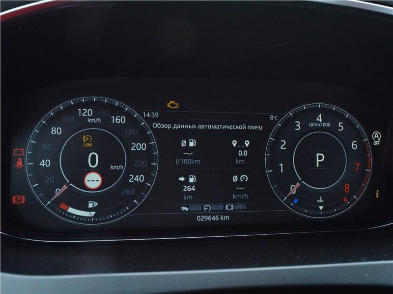 Jaguar E-Pace (2018) приборная панель