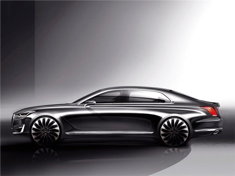 Hyundai Genesis G90 Concept 2015 вид сбоку
