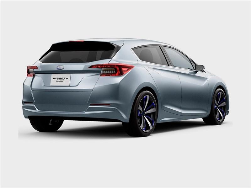 Subaru Impreza 5-Door concept 2015 вид сбоку сзади 2