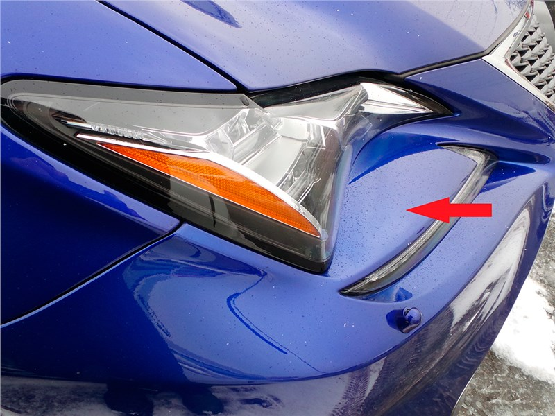 Lexus RC F Sport 2014 передний бампер