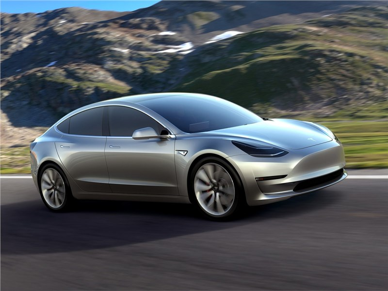 Tesla Model 3 concept 2016 вид спереди