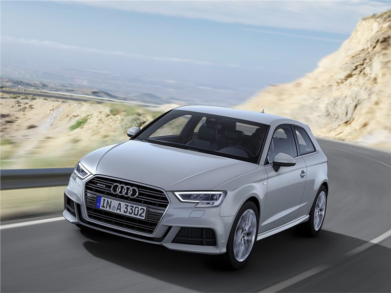 Audi A3 2017 вид спереди