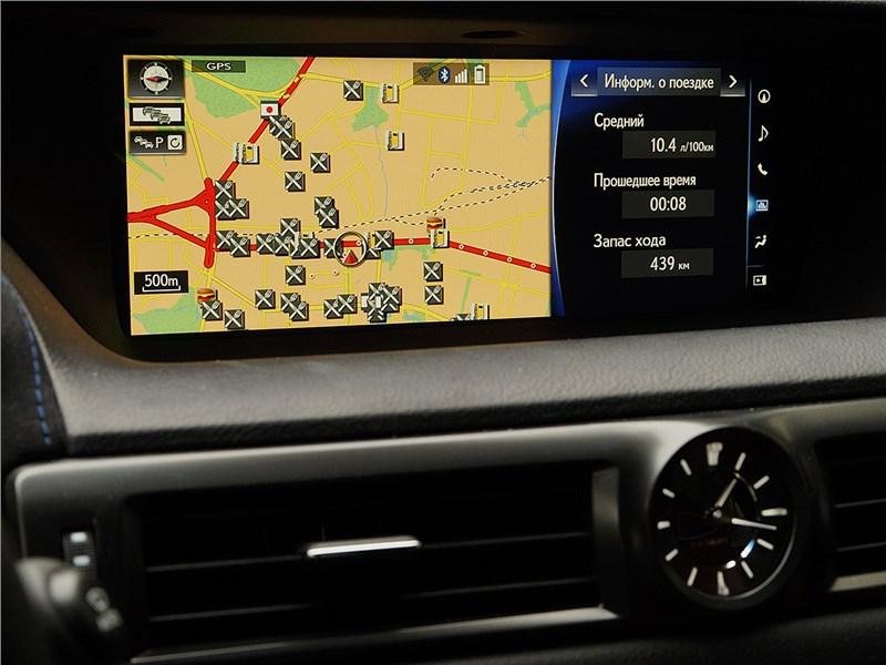 Lexus GS F 2016 экран мультимедиасистемы