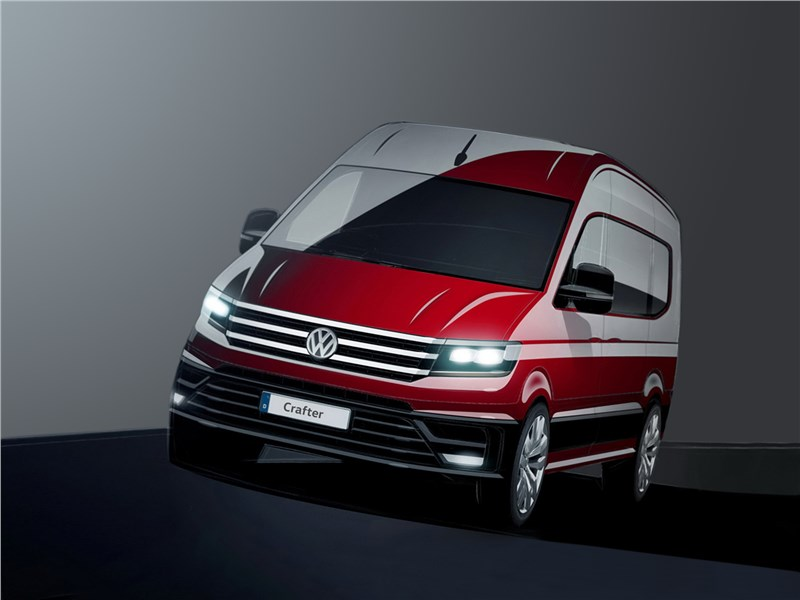 Volkswagen Crafter concept 2016 вид спереди