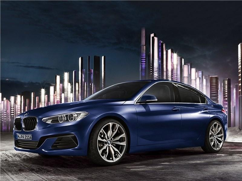BMW 1-Series Sedan 2017 вид сбоку