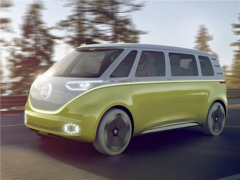 Volkswagen ID Buzz Concept 2017 вид спереди сбоку