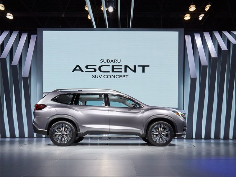 Subaru Ascent SUV Concept 2017 вид сбоку