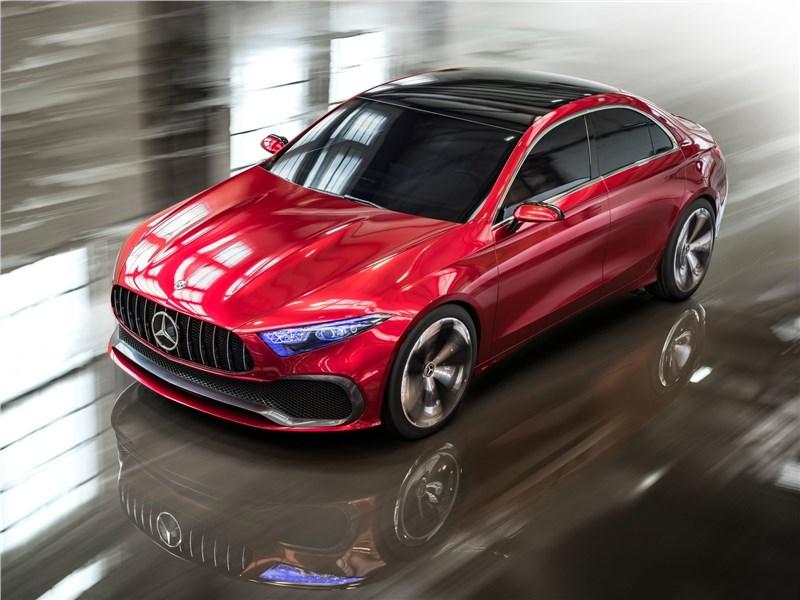 Mercedes-Benz A Sedan Concept 2017 вид спереди сверху