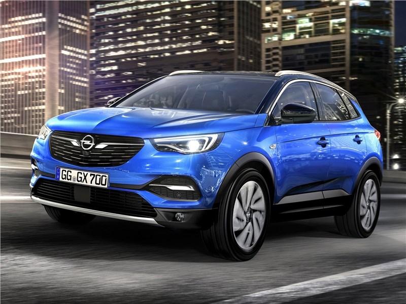 Opel Grandland X 2018 вид спереди сбоку
