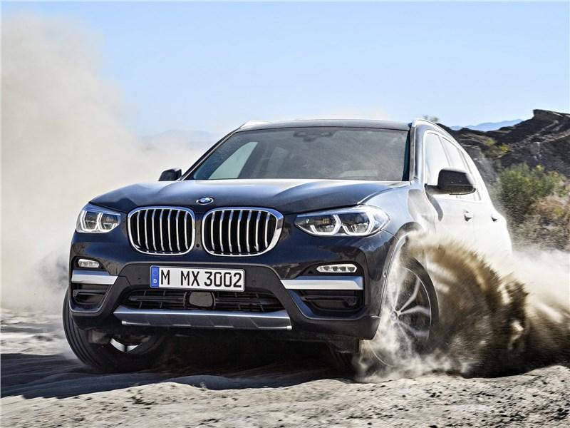 BMW X3 2018 вид спереди