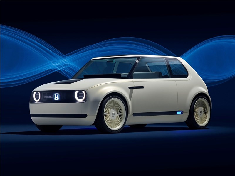 Honda Urban EV Concept 2017 вид спереди сбоку