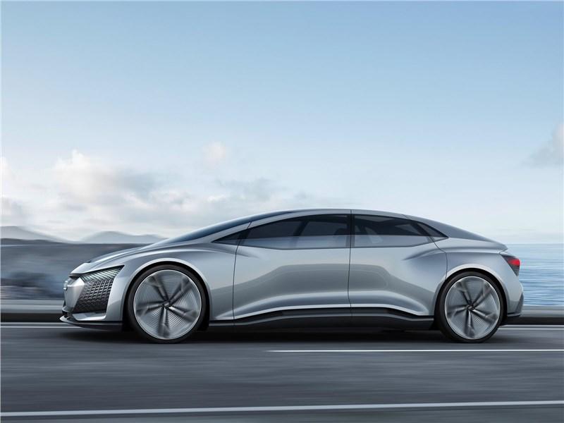 Audi Aicon concept 2017 вид сбоку
