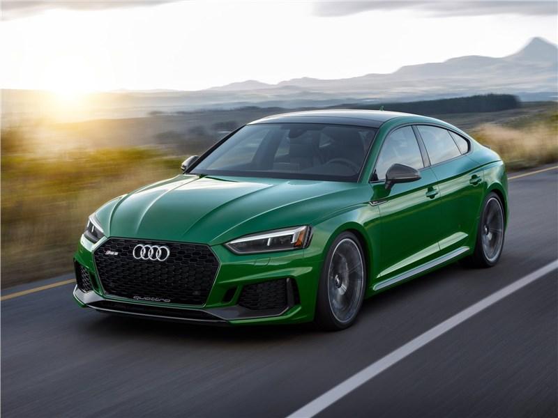 Audi RS5 Sportback 2019 вид спереди