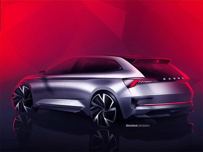 Шкода покажет встолице франции спортивный концептуальный автомобиль VisionRS