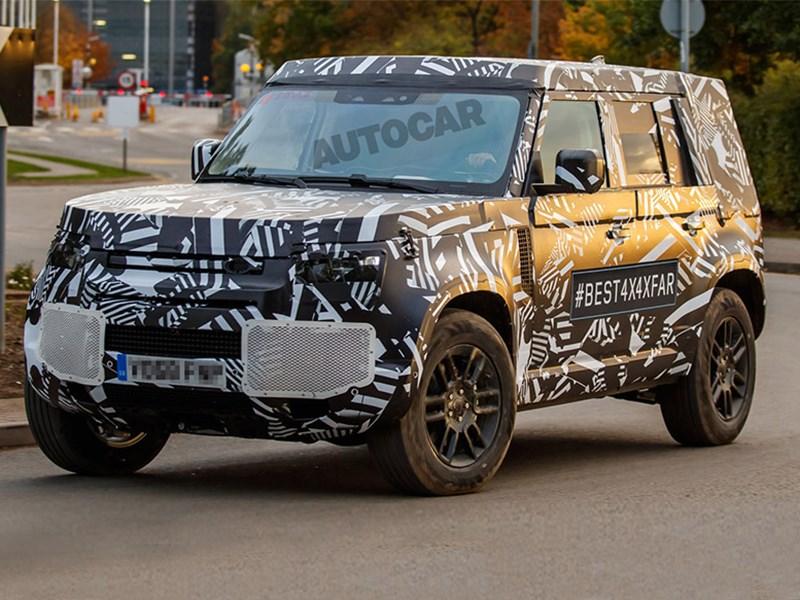 В Сети появились «шпионские» снимки нового Land Rover Defender Фото Авто Коломна