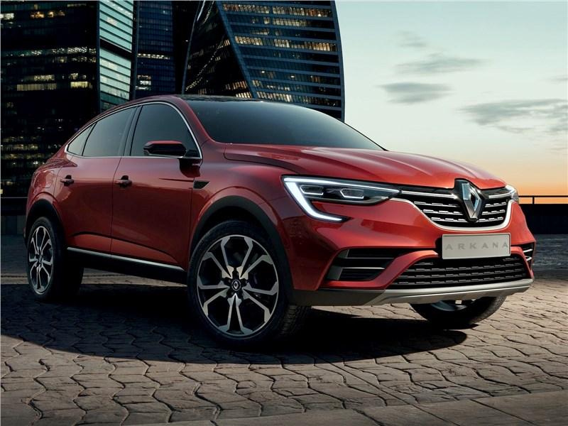 Renault Arkana Concept 2018 вид спереди сбоку