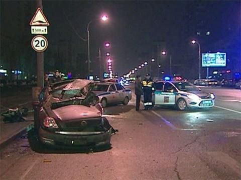 ГИБДД опубликовала статистку по авариям в Москве за январь 2013