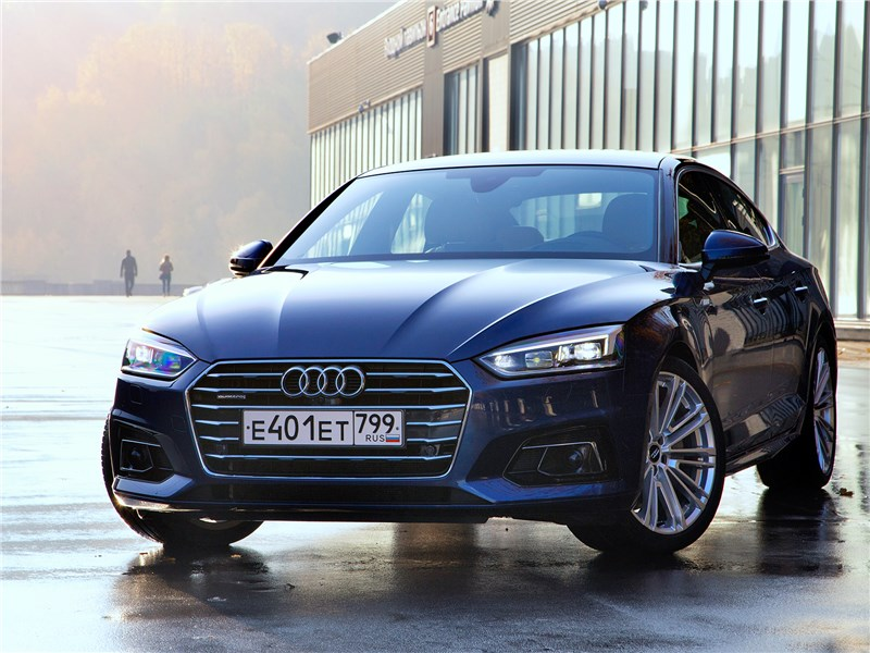 Audi A5 Sportback 2017 вид спереди