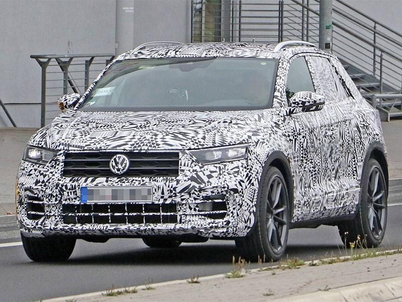 Заряженный VolkswagenT Roc поймали на нюрбургринге Фото Авто Коломна