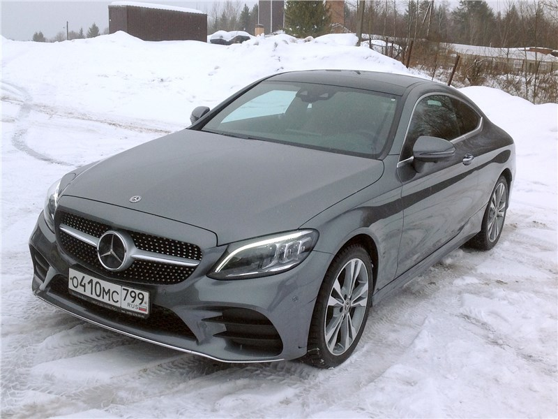 Mercedes-Benz C200 Coupe 4MATIC 2019 вид спереди