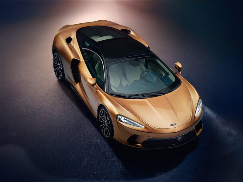 McLaren GT 2020 вид спереди сверху