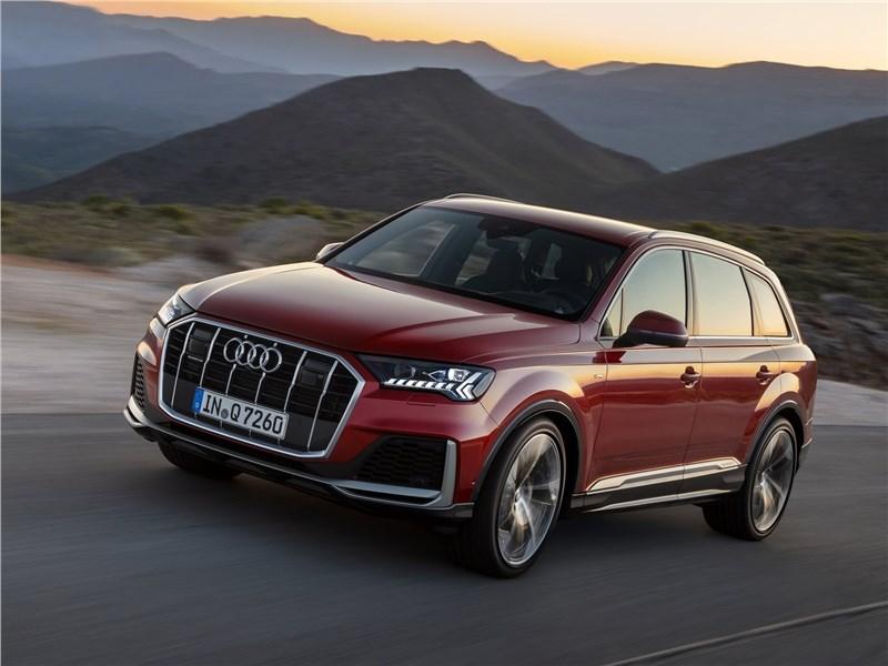 Audi Q7 2020 вид спереди