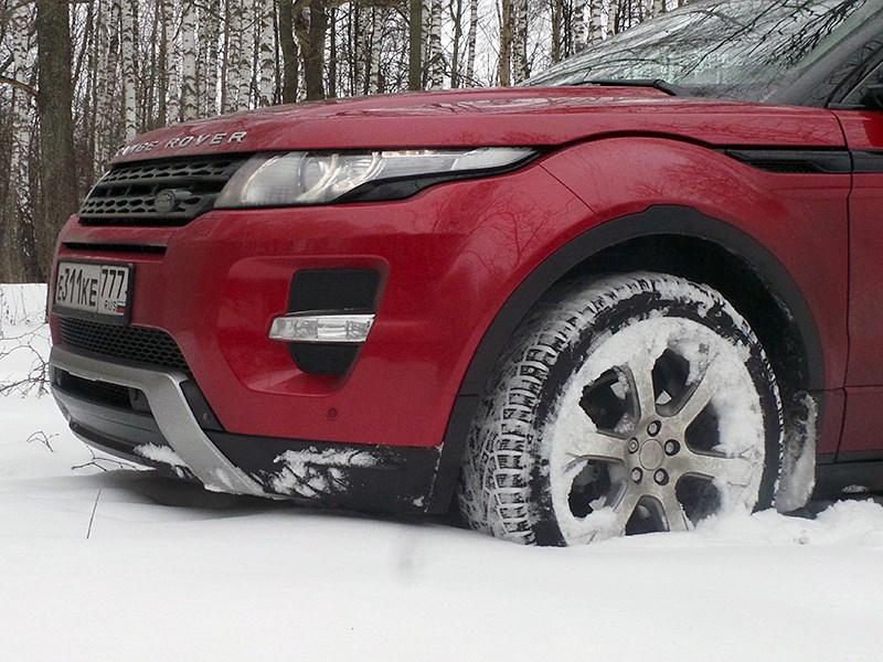 Range Rover Evoque 2012 вид спереди сбоку
