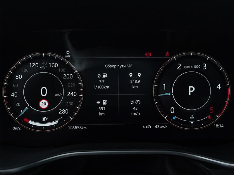 Jaguar F-Pace (2021) приборная панель