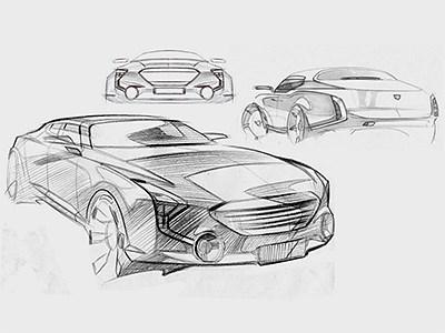 Marussia опубликовала эскизы премиальных автомобилей, разработанных в рамках проекта «Кортеж»