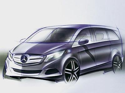 Mercedes-Benz покажет новый минивен V-Class в Интернете